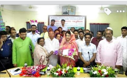 কুমিল্লার হোমনায় উপজেলা চেয়ারম্যানদের বরণ ও বিদায় সংবর্ধনা অনুষ্ঠিত